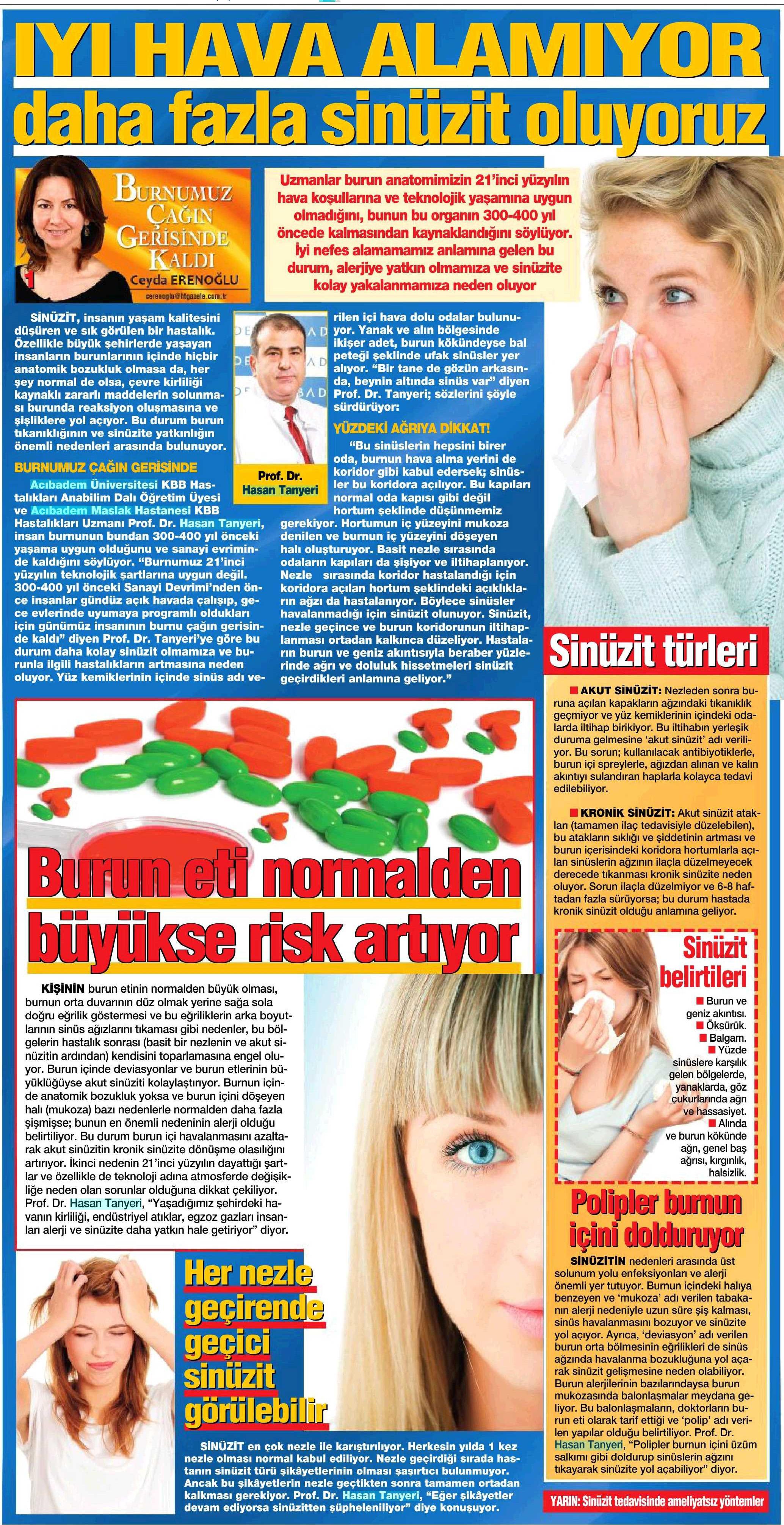 Vazomotor rinitin belirtileri ve tedavisi